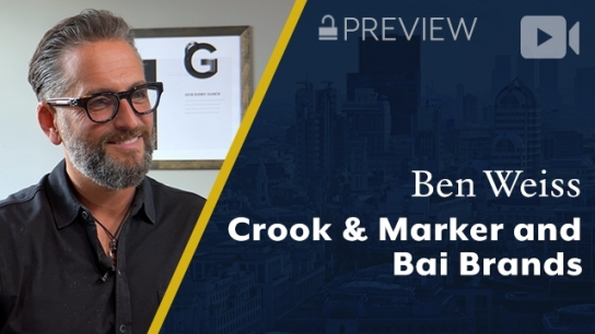 Preview: Crook & Marker and Bai Brands, Ben Weiss, Founder & CEO